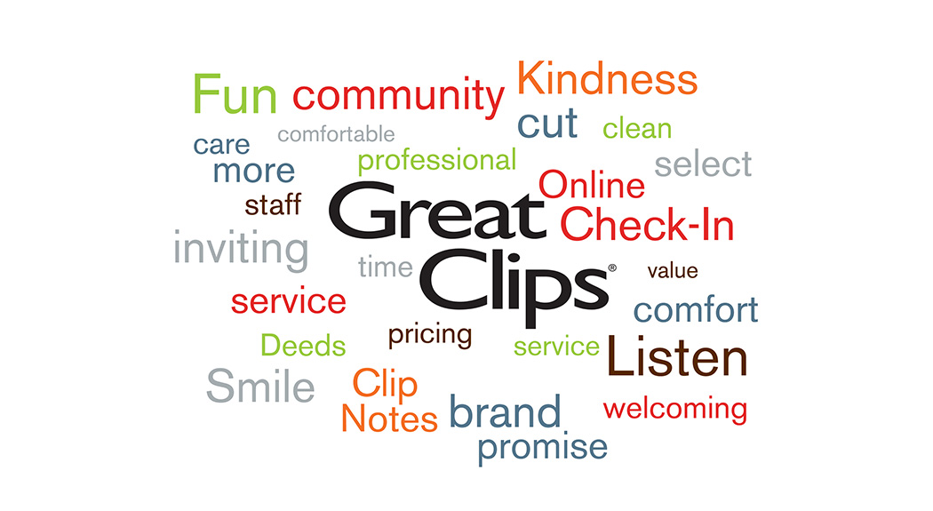 Great Clips word collage