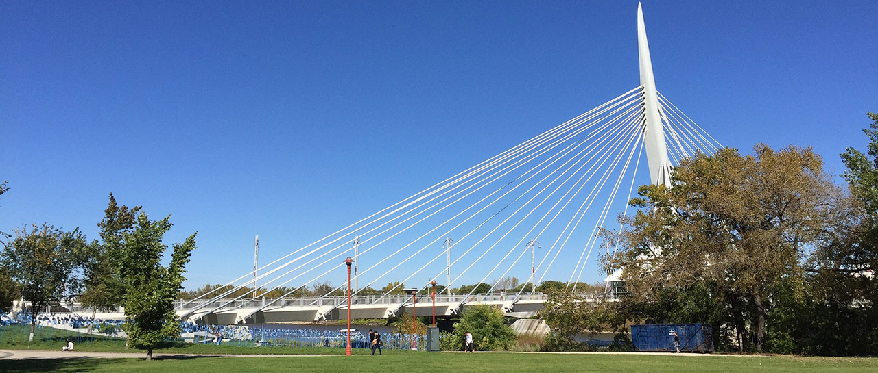 Suspension bridge in Winnipeg